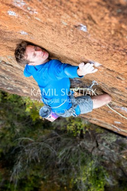Lee and Andrea Cossey on Lee's multipitch