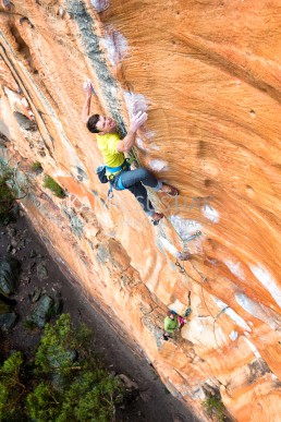Doug McConnel on Tourniquet (30) on the legendary Taipan Wall in the Grampians National Park